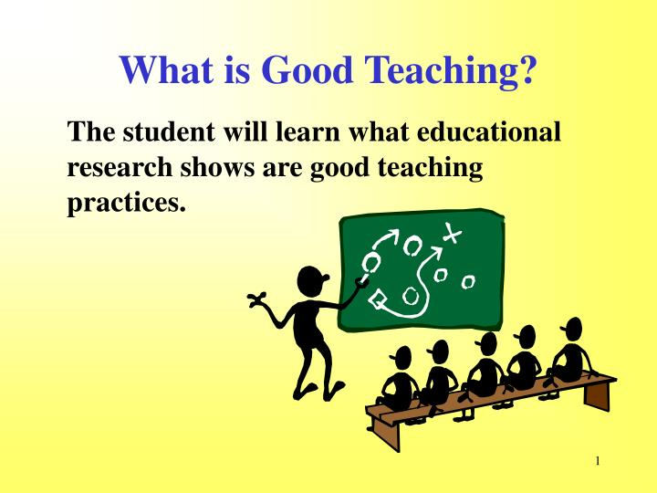 introduction what is a good teacher