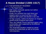 a house divided 1305 151719