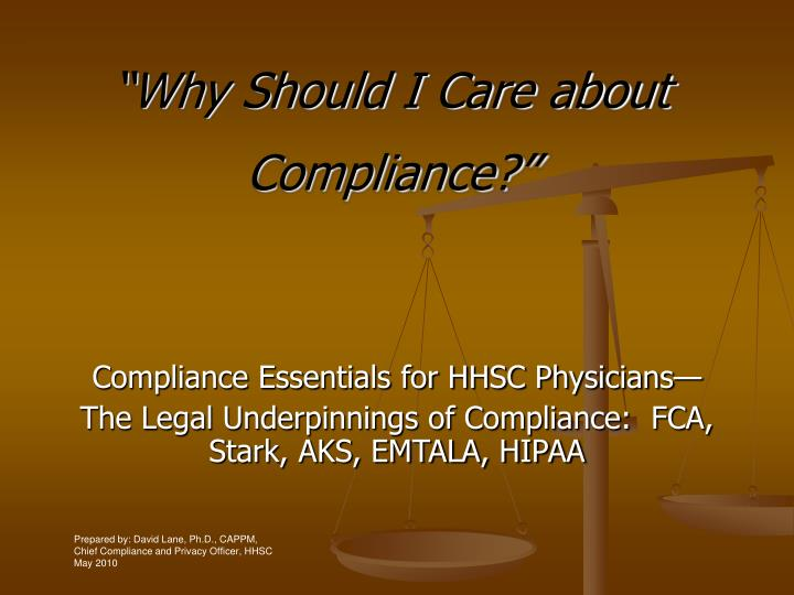 why compliance is essential to the