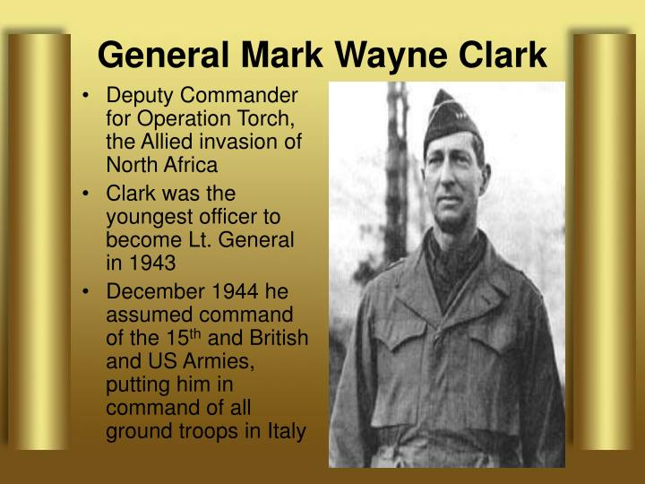 Deputy Commander for Operation Torch, the Allied invasion of North Africa