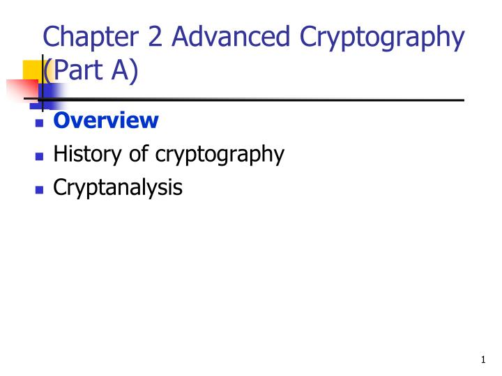 chapter 2 advanced cryptography part a n.