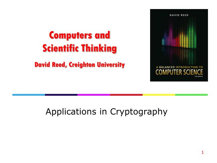computers and scientific thinking david reed creighton university n.