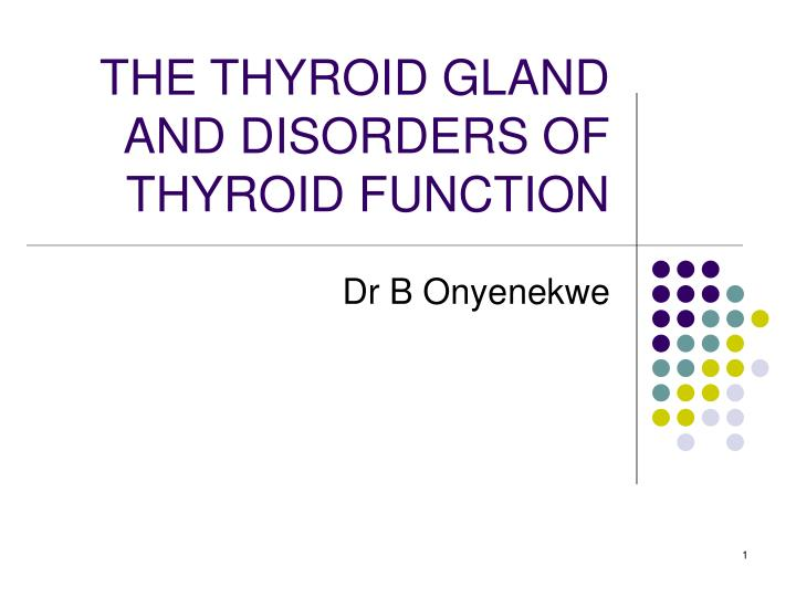 Ppt The Thyroid Gland And Disorders Of Thyroid Function Powerpoint Presentation Id 5332403