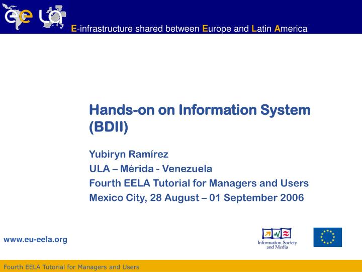 hands on on information system bdii n.