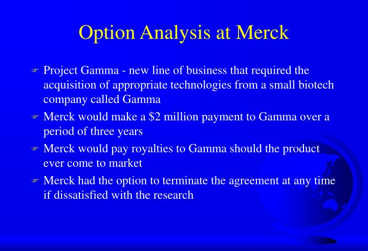 analysis on merck Free case study solution & analysis | caseforestcom executive summary in 2000, merck & co, inc, a global research-driven pharmaceutical company, was facing a threat that patents of their most popular drugs would expire in two years.