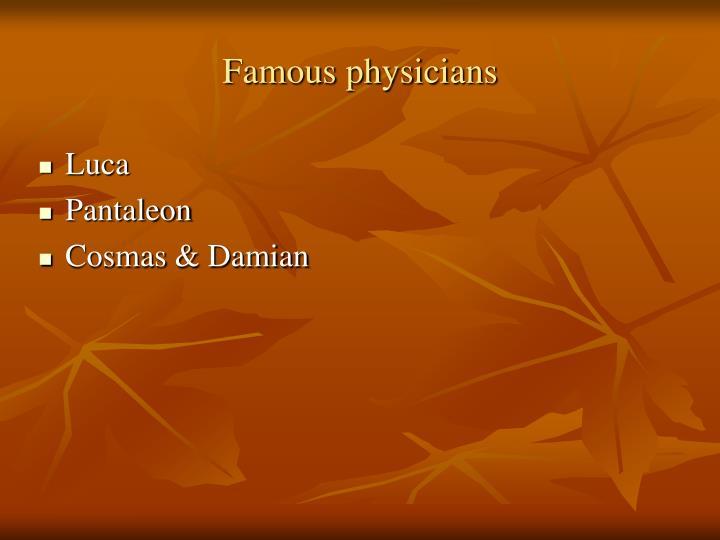 Famous physicians