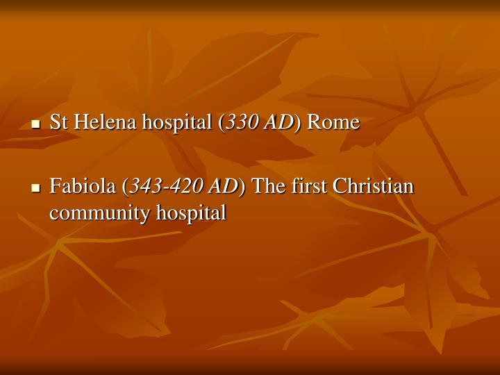 St Helena hospital (