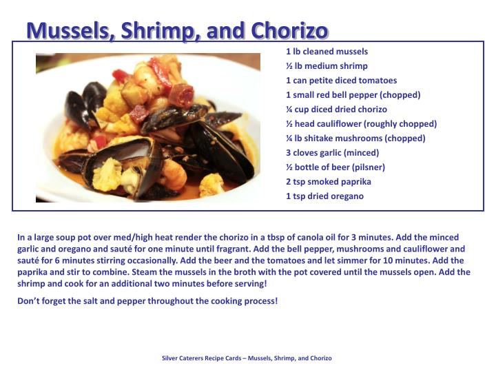 Mussels, Shrimp, and Chorizo