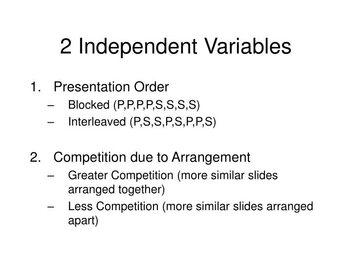 2 Independent Variables