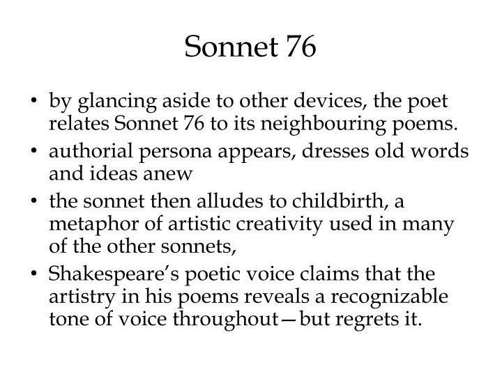 shakespeare sonnet 76