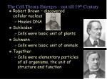 the cell theory emerges not till 19 th century