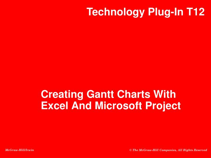 creating gantt charts with excel and microsoft project n.