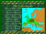 the celts migrate