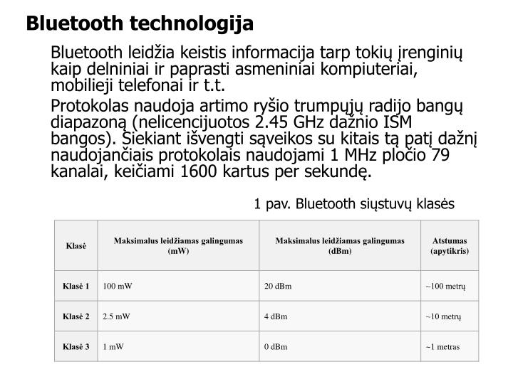 Bluetooth technologij