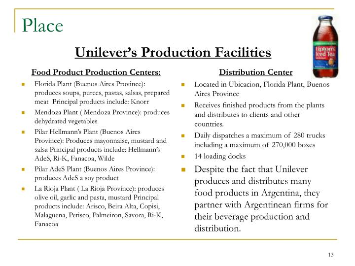Food Product Production Centers:
