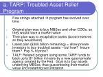 a tarp troubled asset relief program