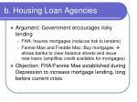 b housing loan agencies