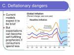 c deflationary dangers