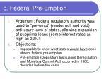 c federal pre emption