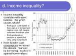 d income inequality