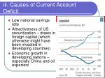 iii causes of current account deficit