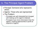iv the principal agent problem