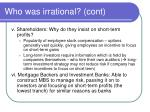 who was irrational cont