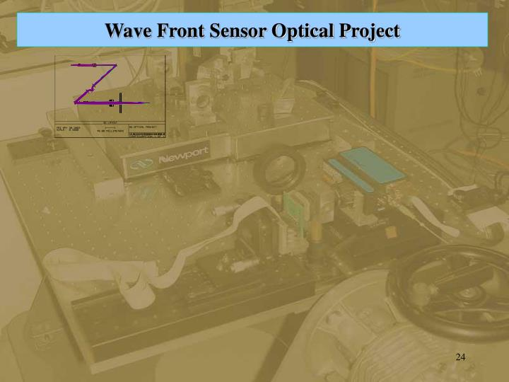 Wave Front Sensor Optical Project