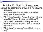 activity 20 noticing language