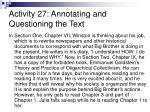 activity 27 annotating and questioning the text
