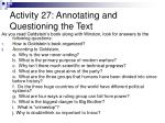activity 27 annotating and questioning the text1