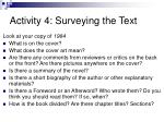 activity 4 surveying the text