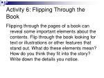 activity 6 flipping through the book