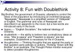 activity 8 fun with doublethink