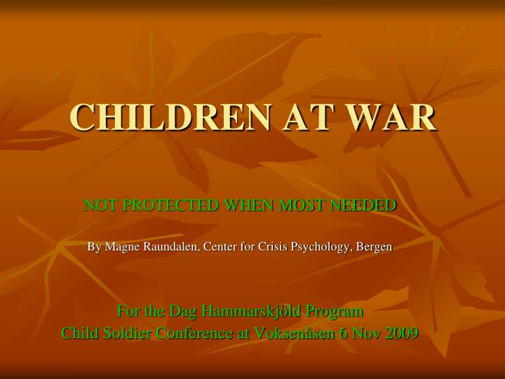 children at war n.