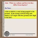aim what are radians and how do they differ from degrees
