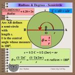 radians degrees semicircle