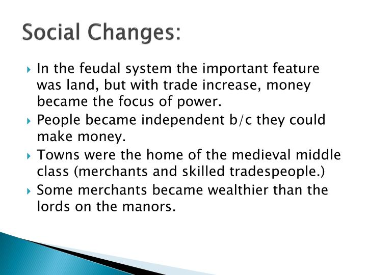 Social Changes:
