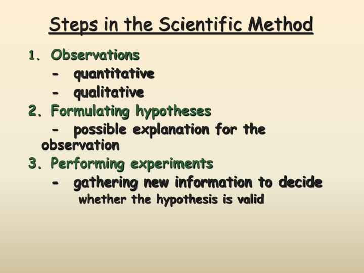 steps in formulation of hypothesis In the simplest terms, what is an hypothesis an explanation an observation a proven fact a population can be defined as a group of individuals of a single species inhabiting a defined area an association of interacting species a group of individuals of a single species and all of the physical and chemical.