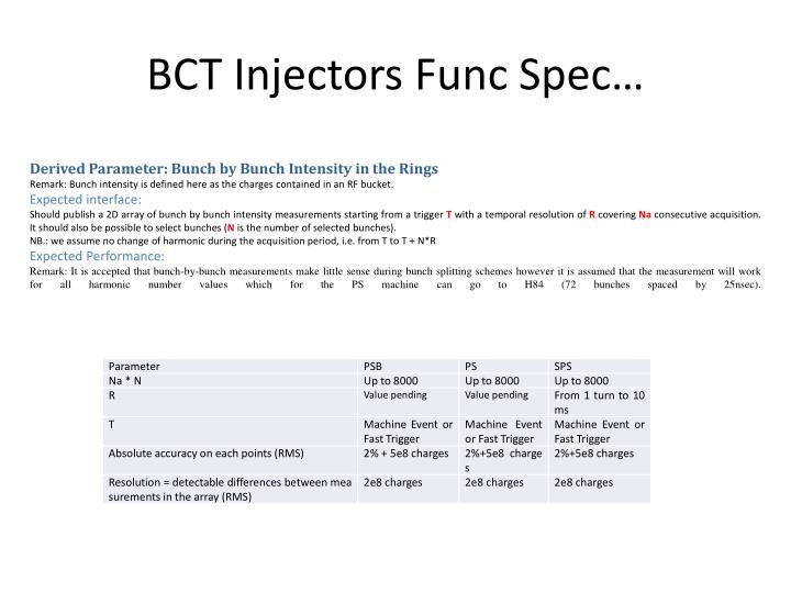 BCT Injectors