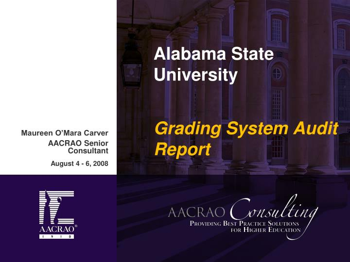 alabama state university grading system audit report n.