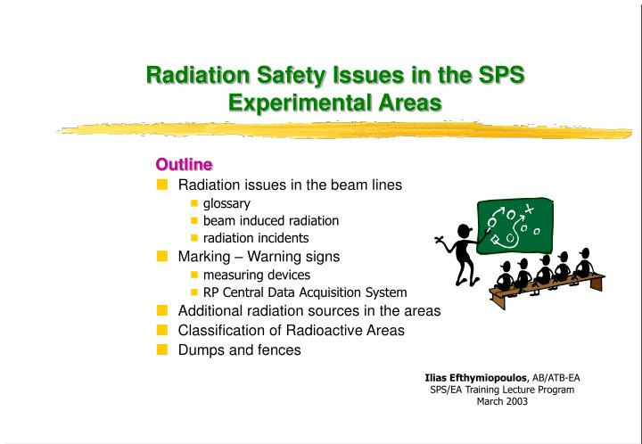 radiation safety issues in the sps experimental areas n.