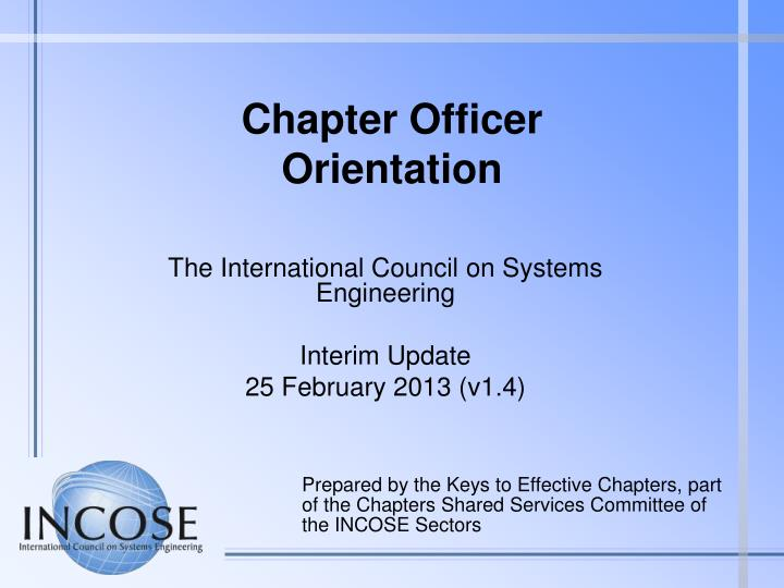 chapter officer orientation n.