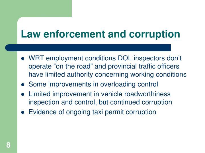 Law enforcement and corruption