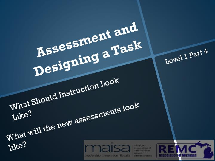 assessment and designing a task n.