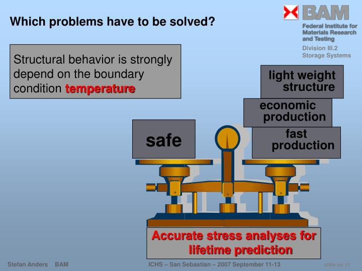 Which problems have to be solved?