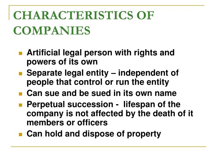 what is separate legal entity in company law