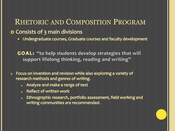 Rhetoric and composition program