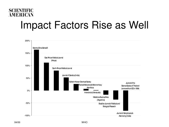 Impact Factors Rise as Well