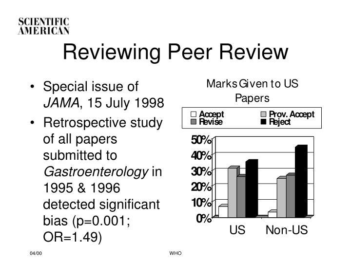Reviewing Peer Review